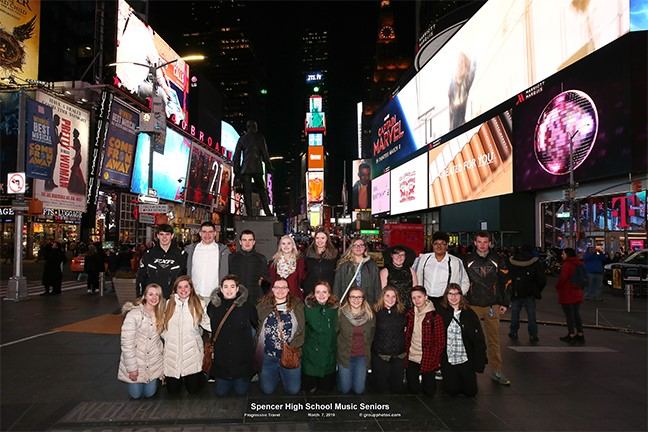 Seniors in Times Square