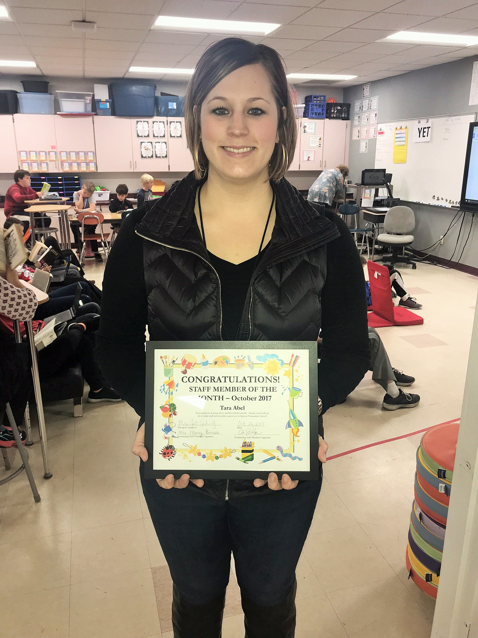 Mrs. Abel Staff Person of the Month for November