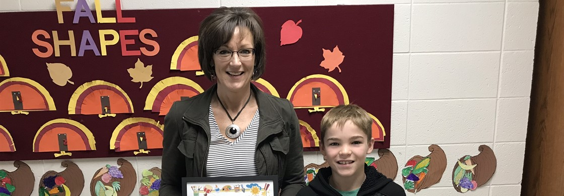 November Staff Member and Student of the Month - Mrs. Ann Pankratz and Tyler Peterson