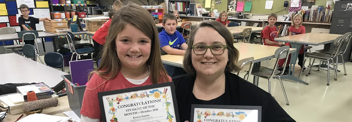 Spencer Elementary Student and Staff of the Month