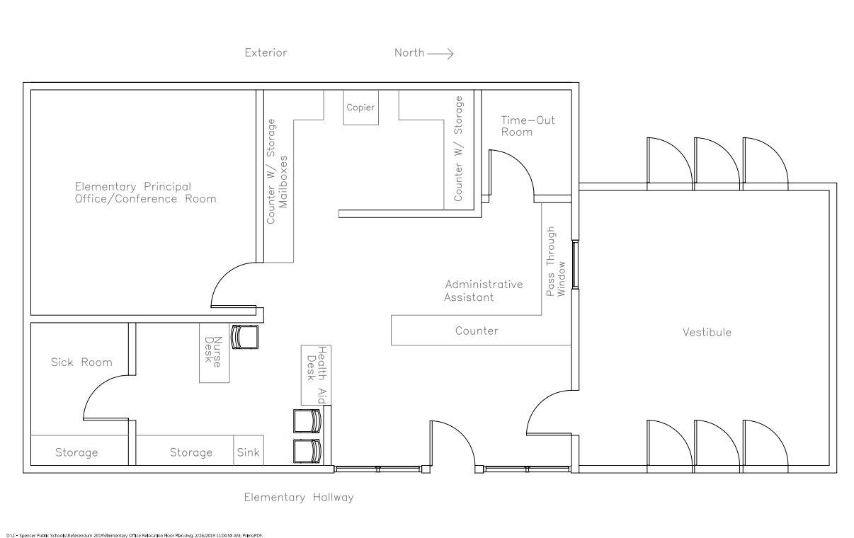 Elementary Office Floor Plan
