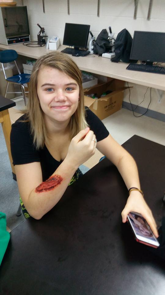 Halloween wound creations
