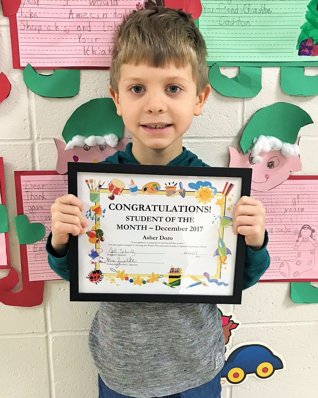 Student of the Month for December