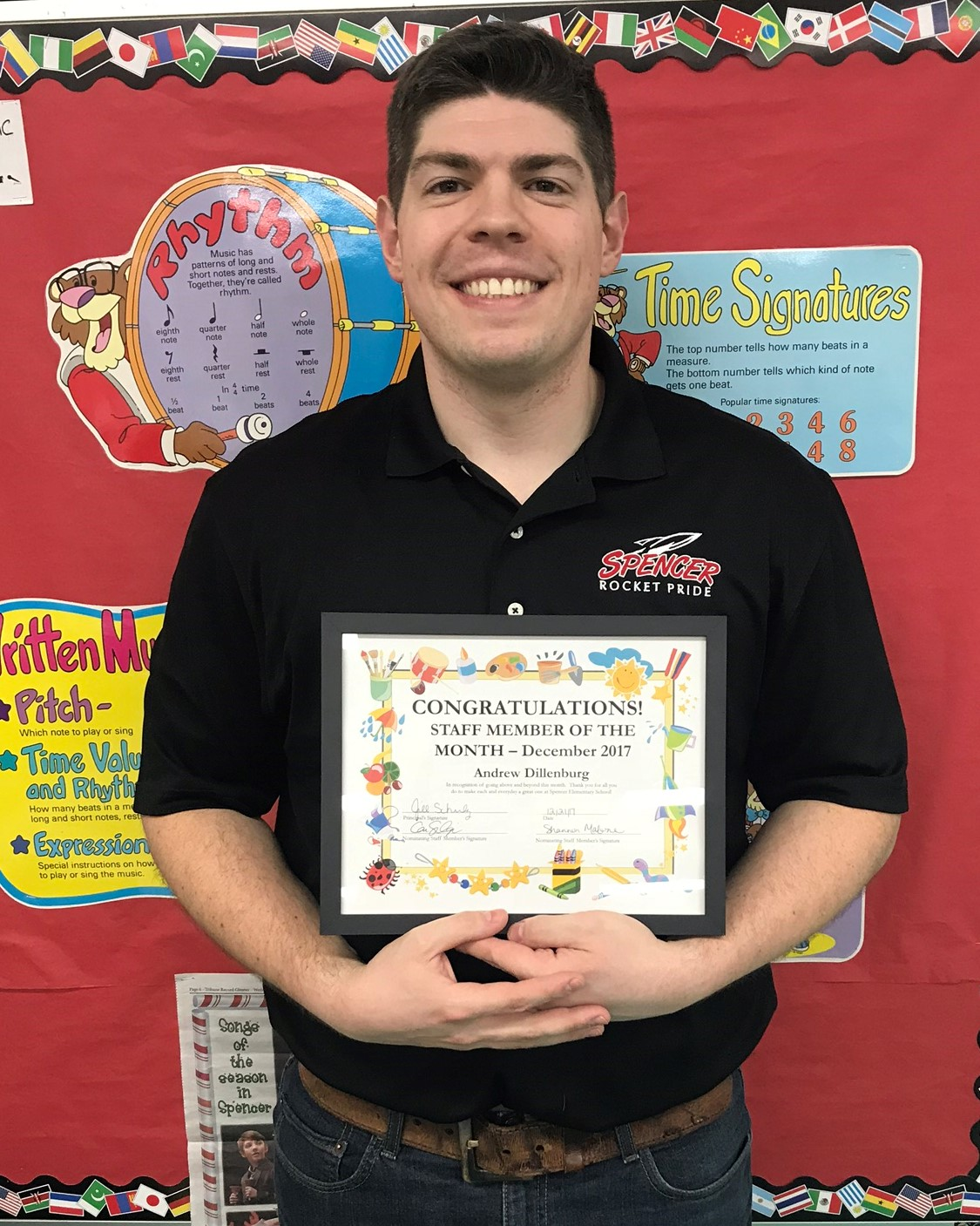 Mr. D is Staff Person of the Month for December
