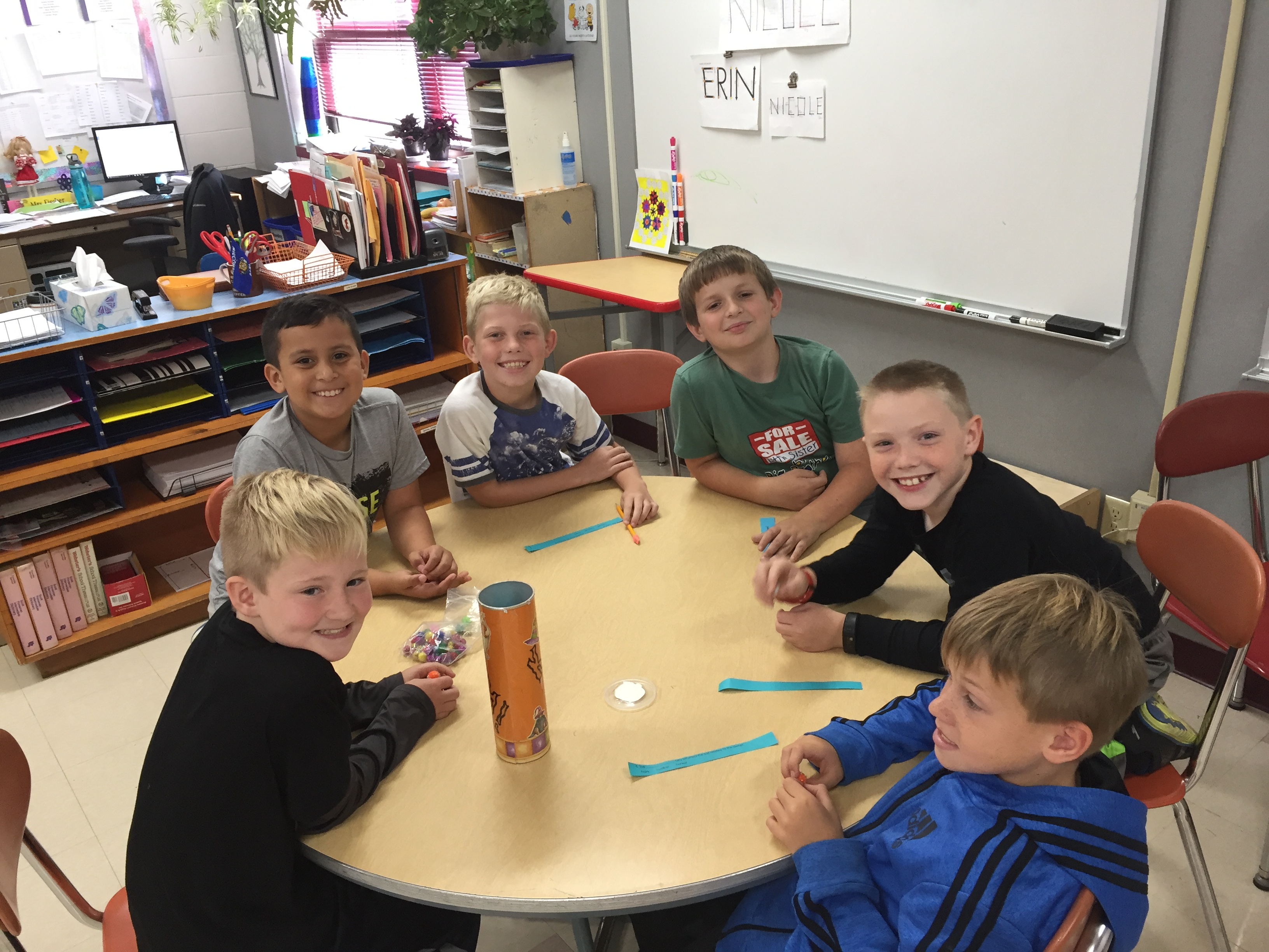 "Students enjoyed playing the game ""Kaboom!"" and working on their context clue detective skills."