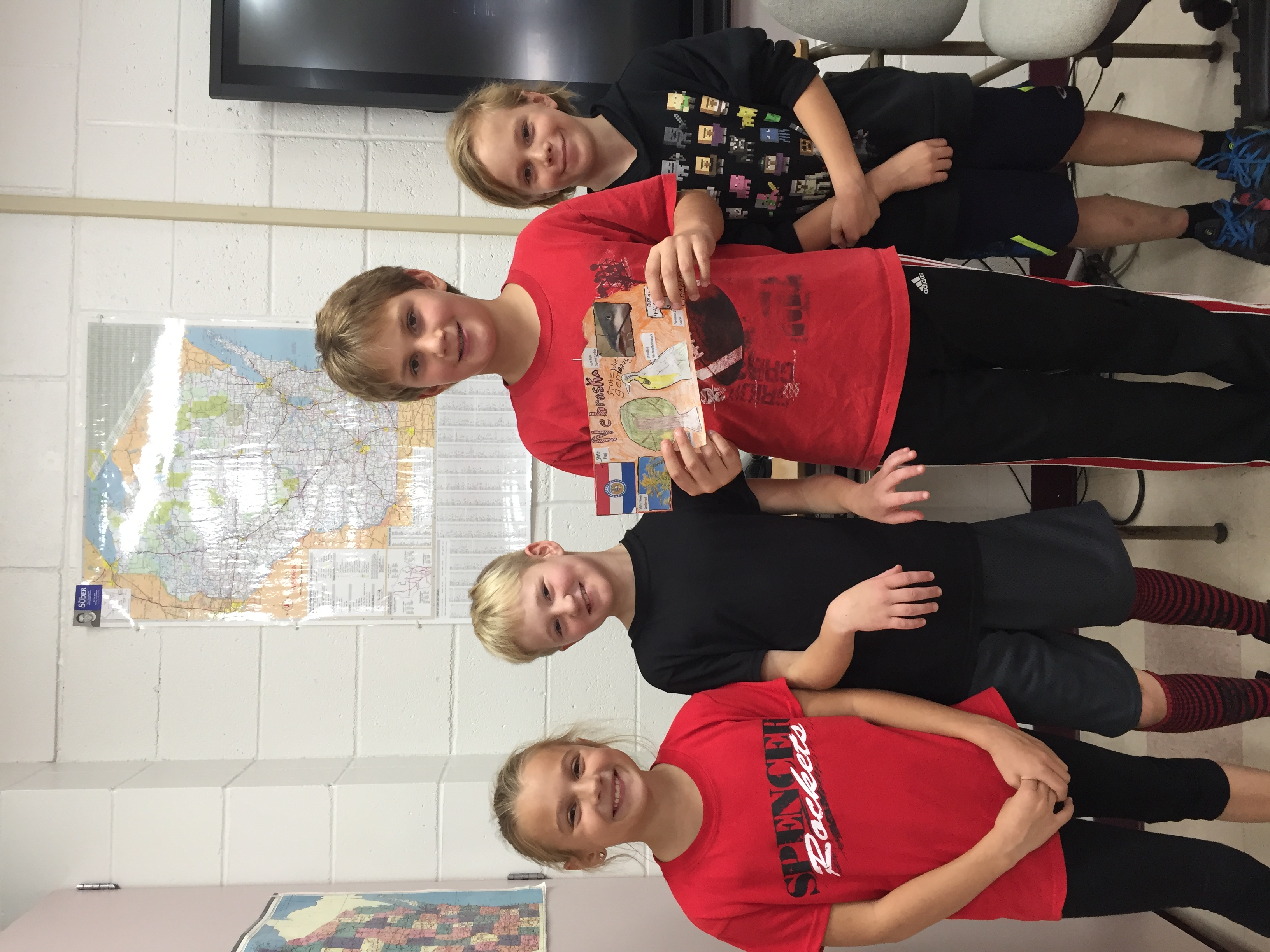 Team Nebraska! Students worked in groups to research and give a presentation on a Midwest state.