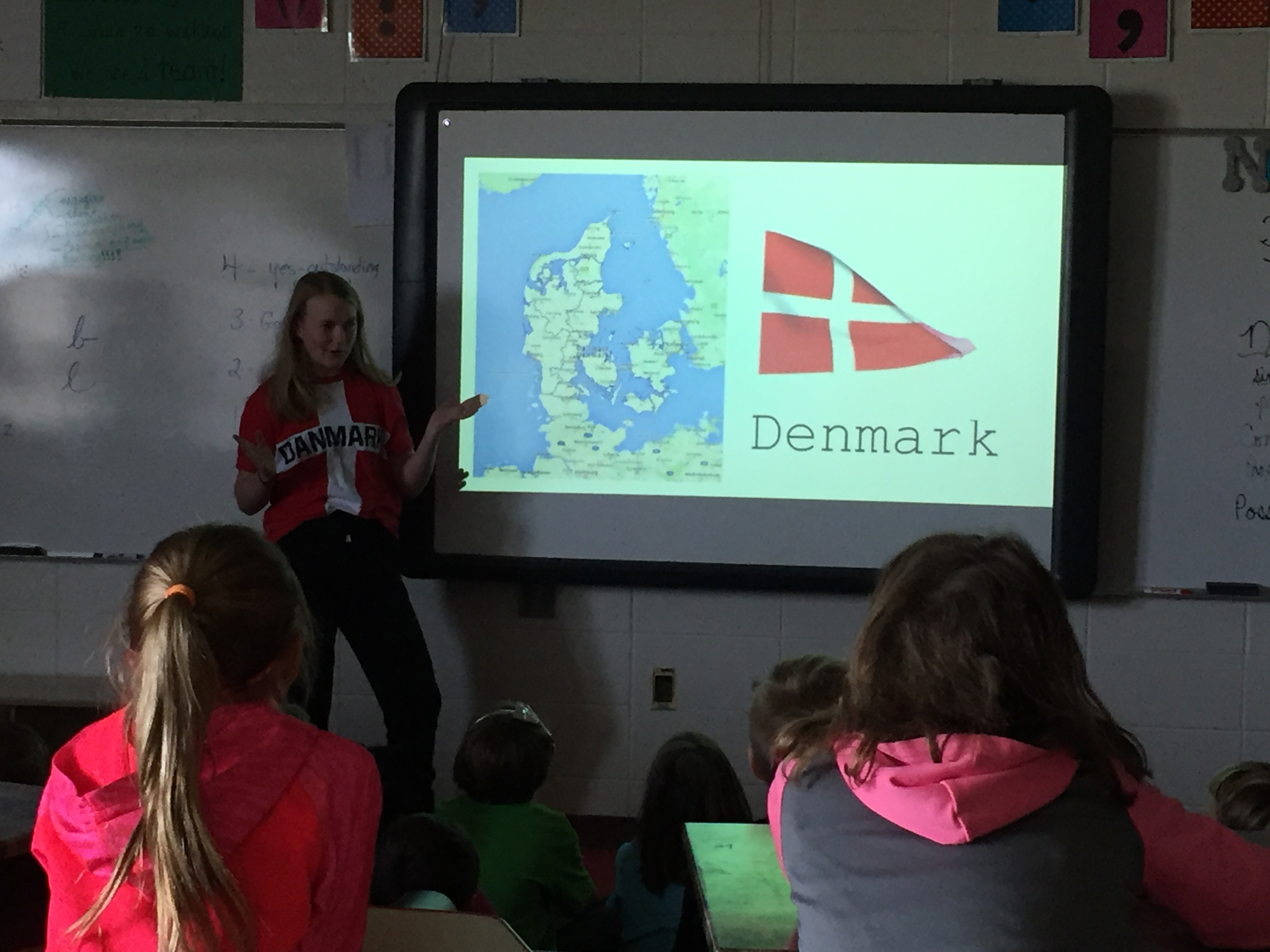 4th grade learned all about Denmark from guest speaker Ida!