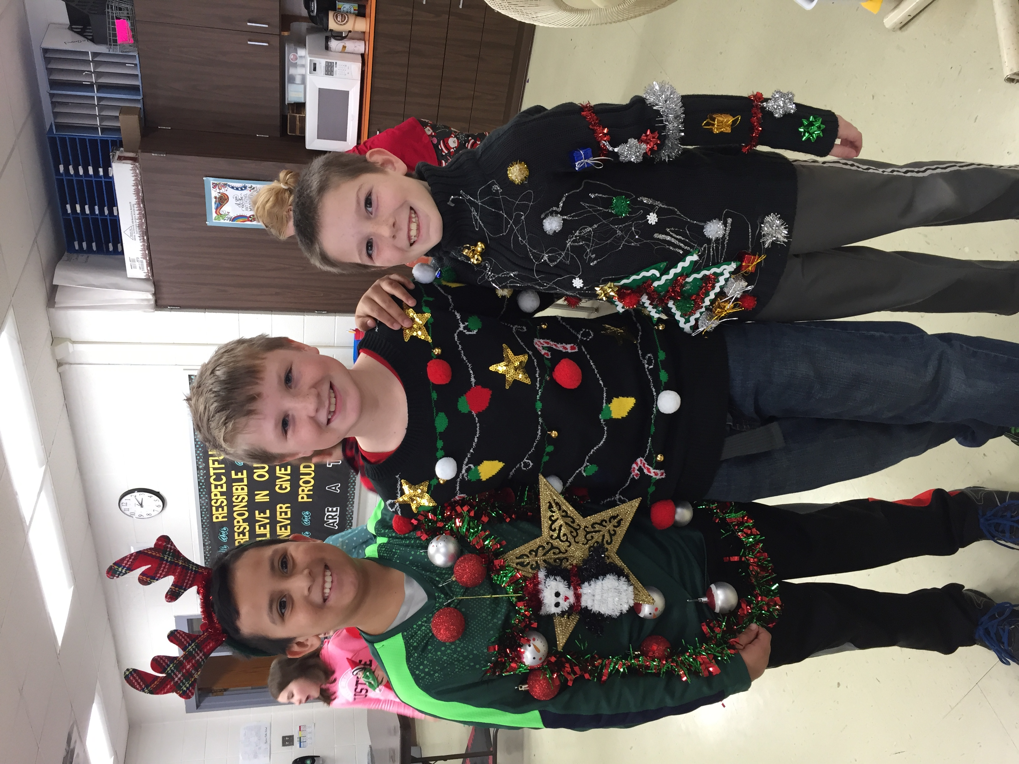 Ugly sweater day :)