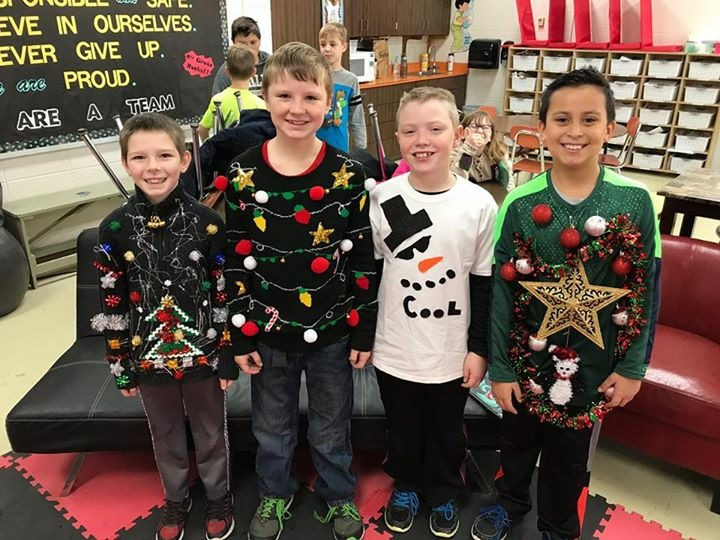 Way to get creative for ugly sweater day!